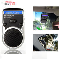Wireless Bluetooth Handsfree Car Kit For Mobile Phone Dual Phone Connect Solar Powered Speakerphone With LCD Display