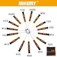 JAKEMY Professional 15 Pcs Flat Cross Pentalobe Torx Screwdriver Set For Mobile Phone Tablets PC Repair