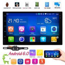 Android 6.0 двойной дин стерео Радио GPS Wi-Fi 3G OBD2 Bluetooth Нет DVD + камера