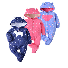 2017 spring autumn soft microfleece Baby Christmas Costumes 6-24M Boy Clothes lovely style Rompers  clothing for kids