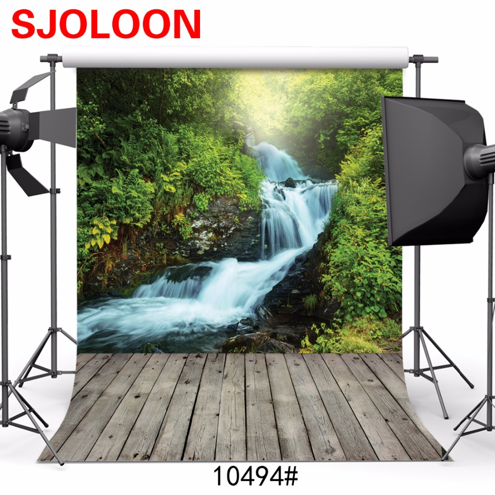 Natural Scenery forest river photo background Photography backdrops Fond studio photo vinyle Photography-studio-backdrop 3X3m
