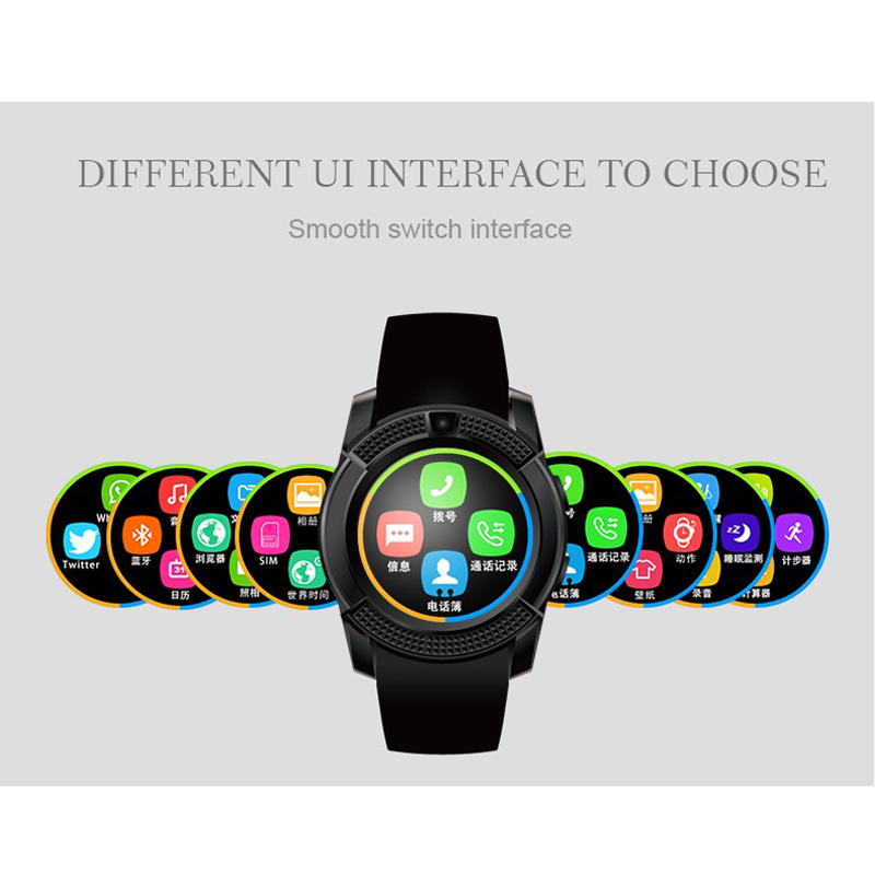 Bluetooth Smart Watch Sleep Monitor Pedometer Tracker Sport Watch Couple Watches Support Card Telephone Smartwatch For Android