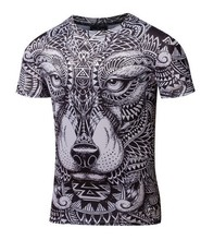 High quality  compression white black Short Sleeve MMA Tight t-shirts brazilian sublimated rashguards   Martial Arts 3D t shirt