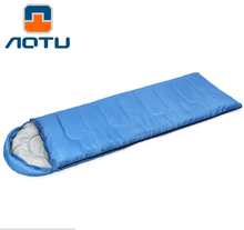 AOTU Ultralight Sleeping Bag Outdoor Camping Sport Adult Envelope Hooded Cotton Splicing Single Sleeping Bags