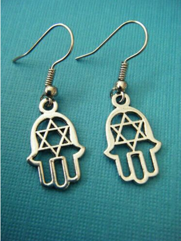 Fashion Vintage Silver Summer Style Jewish Star Of David With Hamsa Hand Charms Drop Earrings For Women Box Gift Jewelry Z206 In From