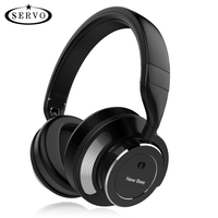 Active Noise Cancelling Wireless Bluetooth Headphone Stereo Deep Bass Headset Over Ear Earphone With Mic For