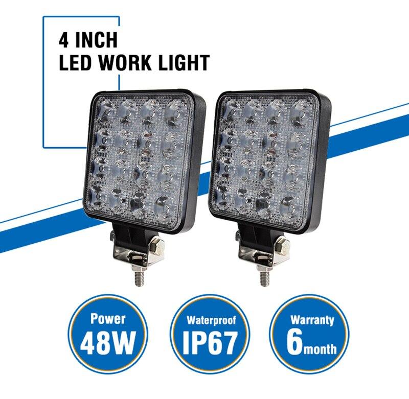 OKEEN 4 inch 20 watt 27 watt 48 watt Offroad LED Work Licht Auto 4WD Lkw Traktor Boot Anhänger led 4x4 SUV ATV Spot Flut LED Licht Bar 12 v