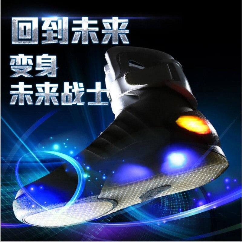 Boucle Led Hommes C371 Casual Accident Lumière En Cuir Chaussures Top Facturés Usb Gris Noir Flash Espace High c5u3lKJF1T