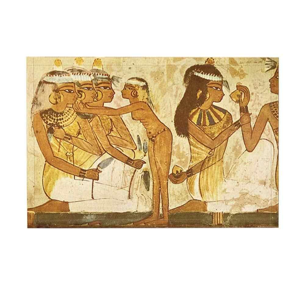 Ngoài trời Tắm Thảm Ai Cập Cổ Đại Bức Tranh Tường Văn Hóa Relic Pharaoh người phụ nữ Non-Slip Chùi Chân Sàn Trong Nhà Phía Trước Cửa Mat Trẻ Em tắm Mat