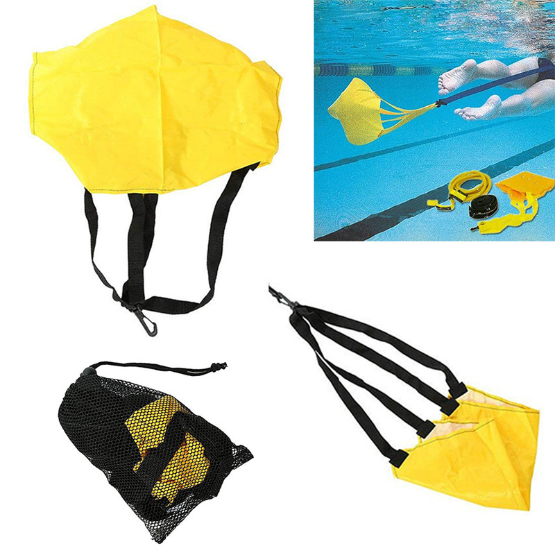 MrYSwimming Strength Training Traction Resistance Belt Swim Training Exerciser Belt With Drag Umbrella For Adults Children