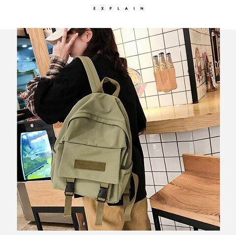 HTB162WUXET1gK0jSZFrq6ANCXXaR 2019 Backpack Women Backpack Fashion Women Shoulder Bag solid color School Bag For Teenage Girl Children Backpacks Travel Bag
