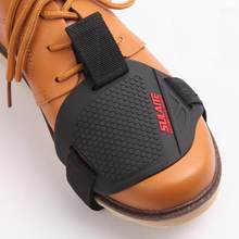 Black Motorcycle Shoes Protective Motorbike Motorcycle Gear Shifter Shoe Boots Protector Shift Sock Boot Cover Shifter Guards(China)