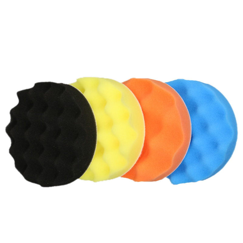 4pcs/Set 3/4/5/6/7 Inch Car Paint Cleaner Buffing Sponge