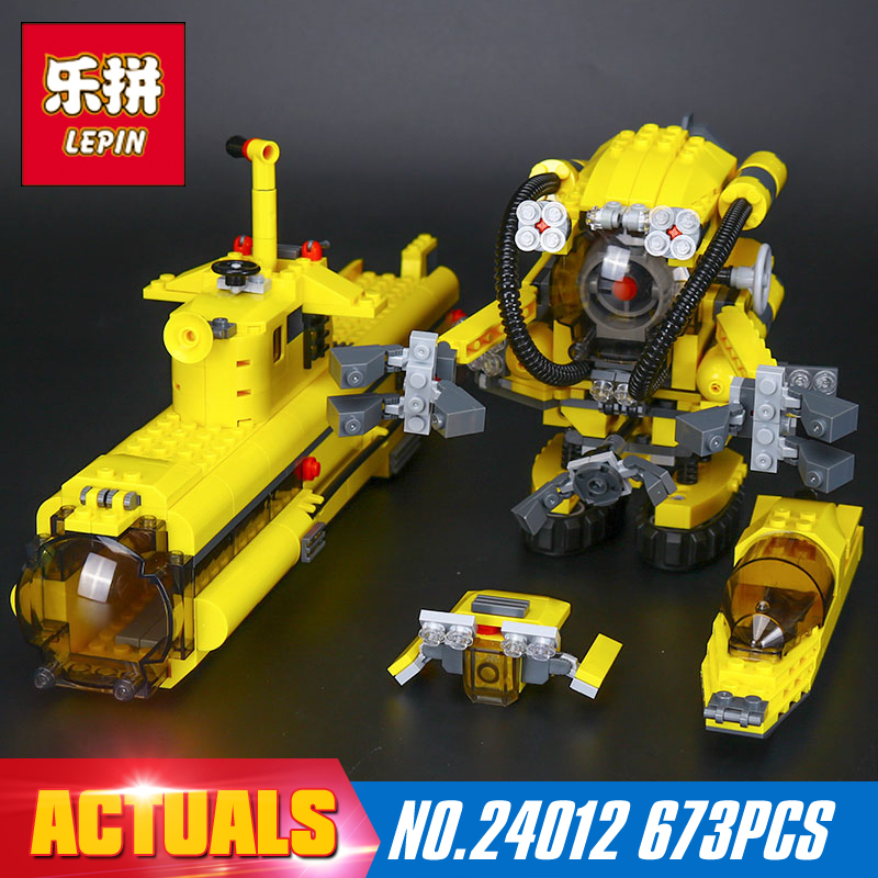 2017 Lepin 24012 New Creative The Underwater Explora Ship Set Children Educational Building Blocks Bricks Funny Toys Model 4888 lepin 22002 1518pcs the maersk cargo container ship set educational building blocks bricks model toys compatible legoed 10241