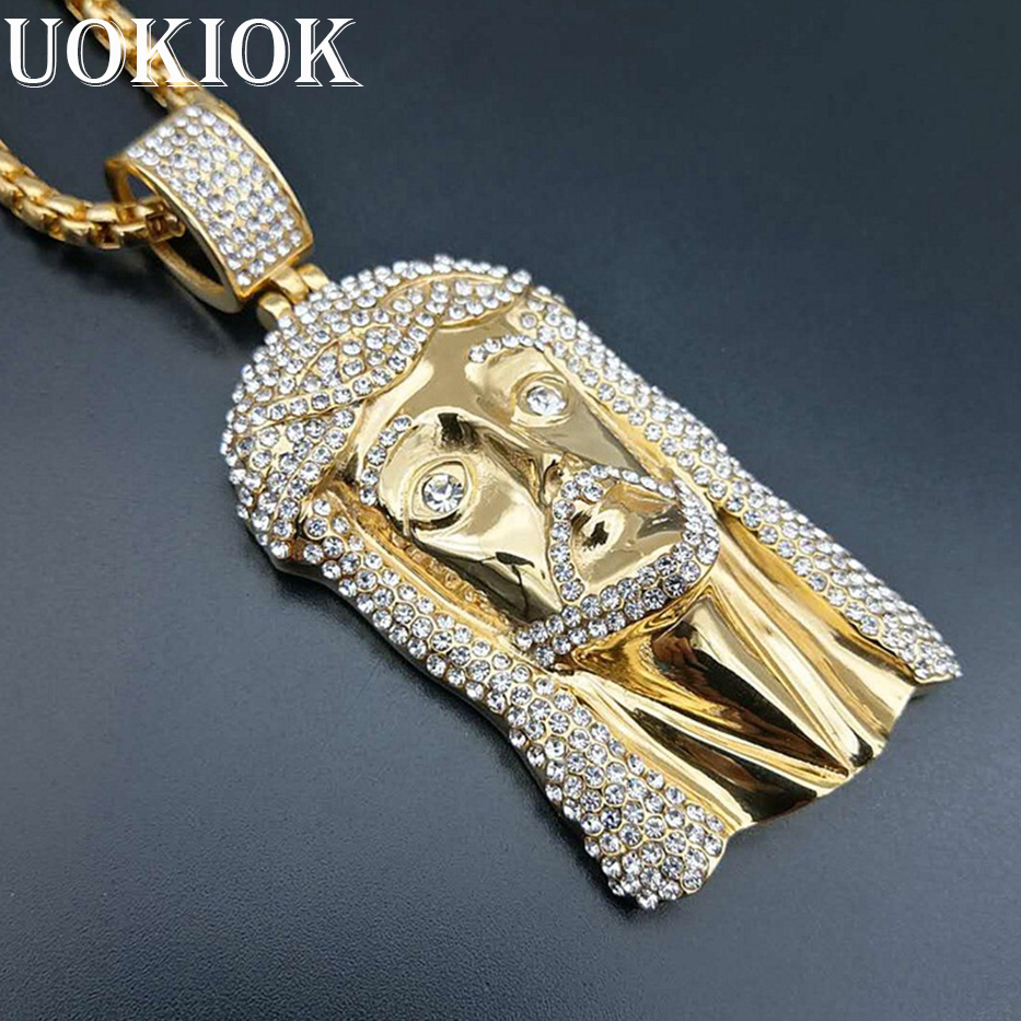 b1bf4fa6ca771 Hip Hop Men Gold Color Iced Out Bling Rhinestone Stainless Steel Big ...
