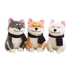 Kawaii Wear Scarf Shiba Inu Dog Plush Toy Japanese Soft Stuffed Dog Toy Christmas Birthday Gifts For Children 25cm
