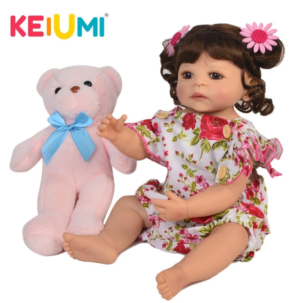 KEIUMI Handmade Reborn Baby Girl Doll 22'' 55cm Lifelike Princess Newborn Babies Doll For Kid Christmas Birthday Gift Shower Toy