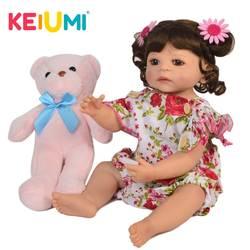 KEIUMI ручной работы для новорожденных, для девочек куклы 22 ''55 см реалистичные принцессы новорожденных Кукла Детская Рождественский подарок