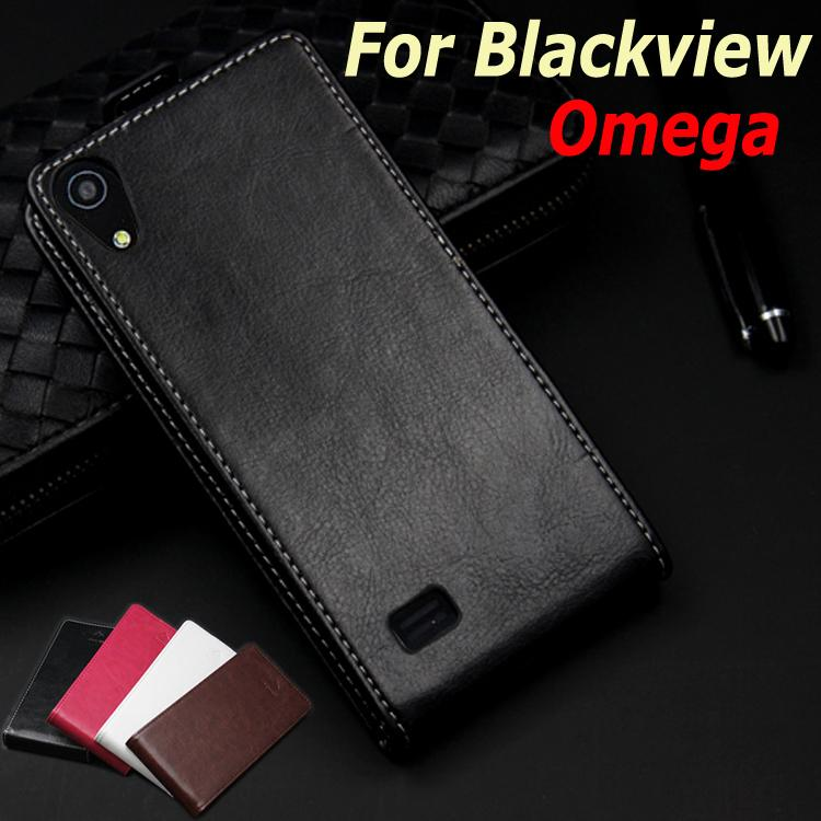 Classic Luxury Up and Down Genuine Leather case For Blackview <font><b>Omega</b></font> Flip Cover case housing With Card Slot Phone Cases