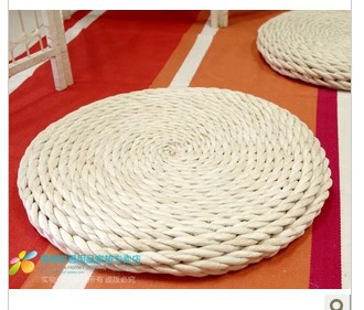 Hand Woven Straw The Futon Seat Cushion Round