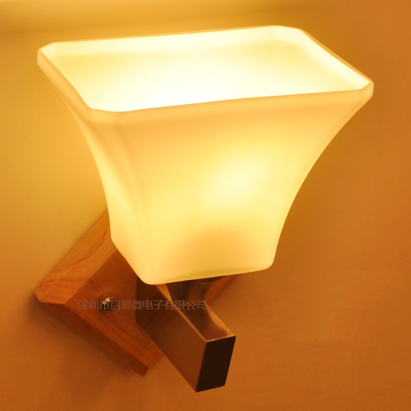 Newest Modern Minimalist Natural Solid Wood Led Wall Lamp