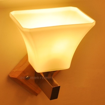 Newest Modern minimalist Natural Solid Wood Led wall lamp Creative corridor/porch/bed light Japanese tatami type lamp