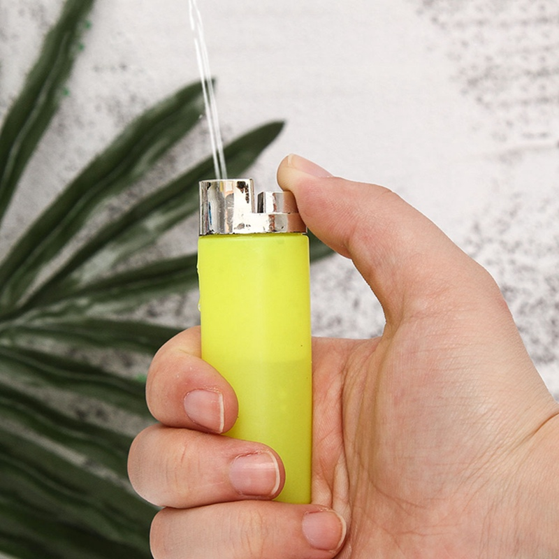 Funny Toy Teasing Friends Joke Prank Fake Lighter Water Squirting Lighter Prank Props More Happy In Party Random Color