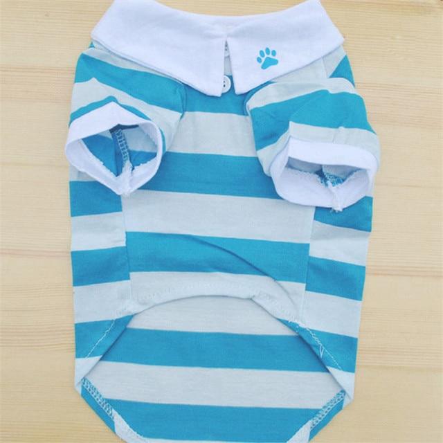 Dog's Little Sailor Striped T-Shirt 4