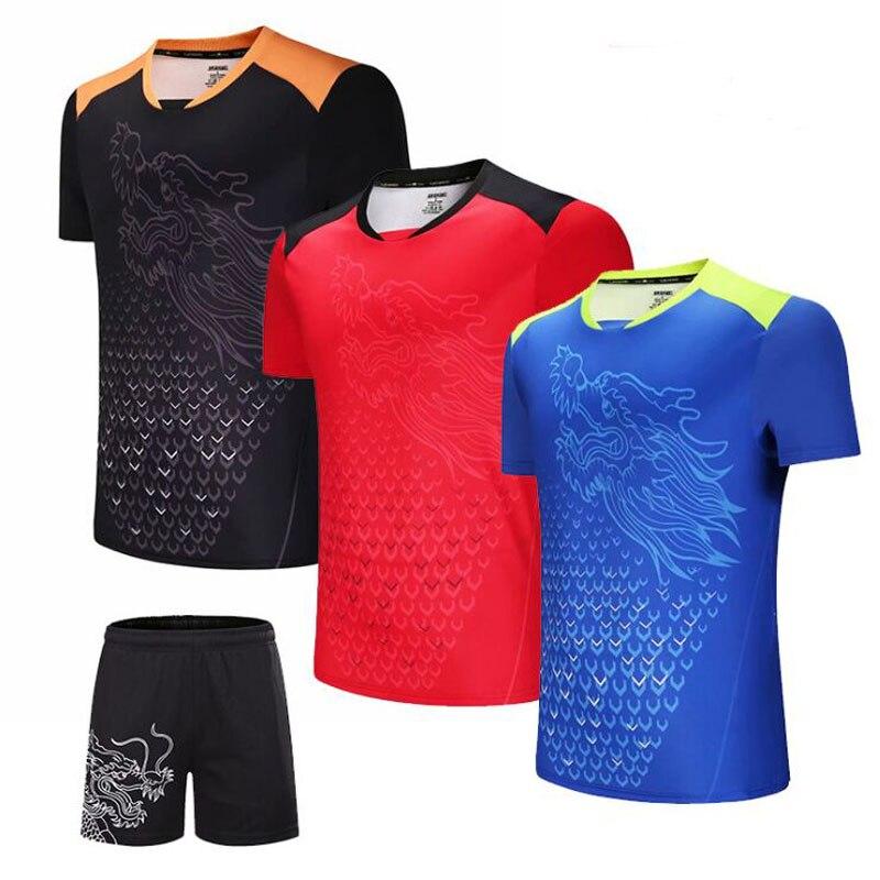 China Dragon Tennis T Shirt Men , Women Table Tennis Shirt , Quick Dry Badminton T-shirt ,Gym Sportswear Clothing Tenis Uniforms