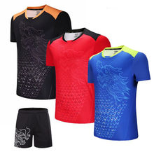 China Dragon Tennis T shirt Men , Women Table Tennis Shirt , Quick Dry Badminton T-shirt ,Gym Sportswear Clothing Tenis uniforms(China)