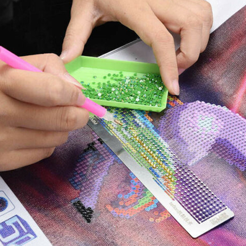 Drop Shipping 5D Diamond Painting Ruler Stainless Steel Blank Grids Round Full Drill Kit  Dot Drill Diamond Embroidery Tools