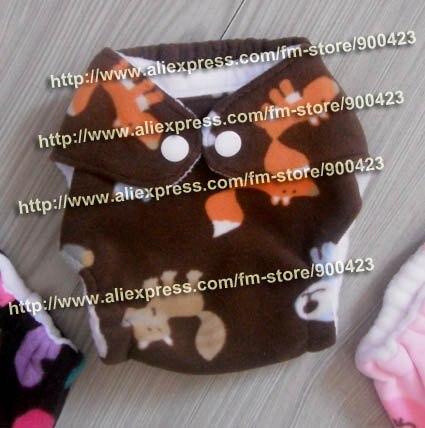 Моющиеся Новорожденные ткань пеленки 1 шт. ткань пеленки+ 1 шт. вставки - Цвет: squirrel E