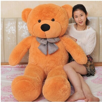 stuffed animal lovely teddy bear 140cm tan bear plush toy soft doll throw pillow gift w3377 new top grade gift pure tan wooden type h chun tan mu shu h kuan