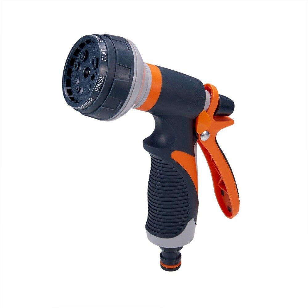 Hose Spray Nozzle >> Us 10 04 19 Off Hose Nozzle Garden Water Hose Spray Heavy Duty Nozzle 8 Spray Pattern Pistol Garden Hose Sprayer Nozzle For Cleaning Car In Sponges