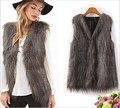 2015 женщин новой горячей марка зима весна женщин жилет пальто / старинные лиса меховых жилетов для женщин / элегантный свободного покроя пальто женская одежда