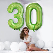 40 inch number balloon 1 2 3 4 5 Number Digit Helium foil Ballons Baby Shower Birthday Party Wedding Decor Party Supplies cheap Partigos Aluminium Foil Christening Baptism Chinese New Year Wedding Engagement Children s Day