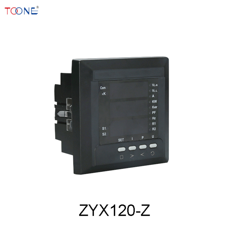 Three phase four wire multi function power meter intelligent digital LCD digital current and voltage combination display