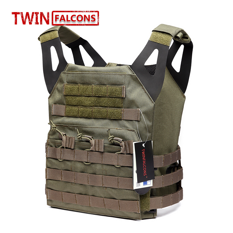 TwinFalcons Airsoft 1000D Molle Tactical Vest JPC Bullet Proof Vest Plate Carrier Paintball Wargame Military Hunting Police VT01 top quality 1000d military vest airsoft tactical equipment hunting molle combat vest hunting gear police clothes