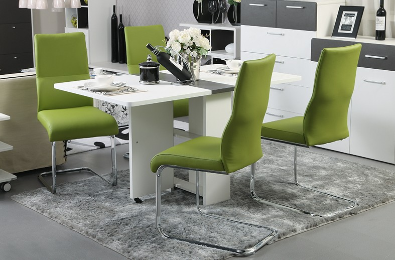 2015 New Arrival modern dining room chairs dining room furniture green leather fashion living room dining room chairs HH662