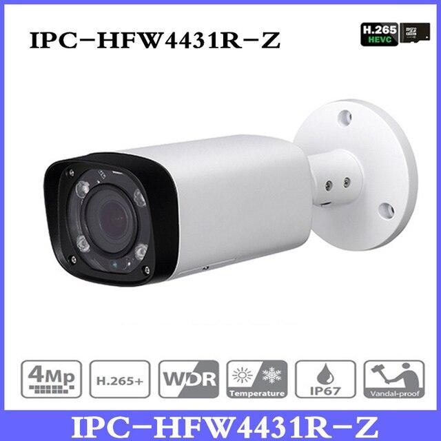 DH IPC-HFW4431R-Z 4MP Night Camera 80m IR with 2.712mm VF lens Motorized Zoom Auto Focus Bullet IP Camera CCTV Security POE