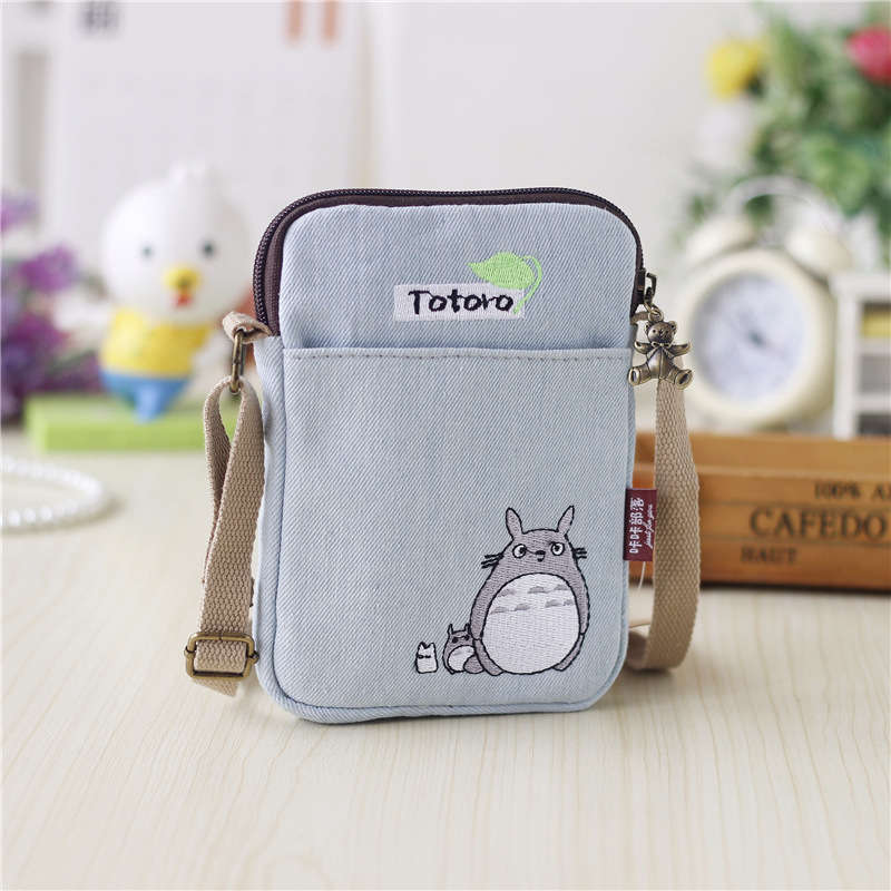 Canvas cartoon totoro women's organizer wallets small coin purses female phone money pouches carteiras femininas for girls boys survival kit tin higen lid small empty silver flip metal storage box case organizer for money coin candy keys