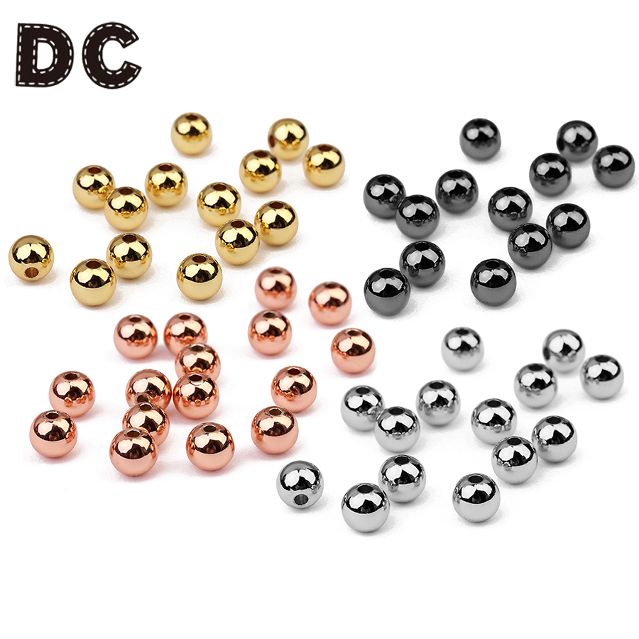 Or Argent Or Rose Ronde magnétique hématite Gemstone Loose Spacer Beads 6//8MM