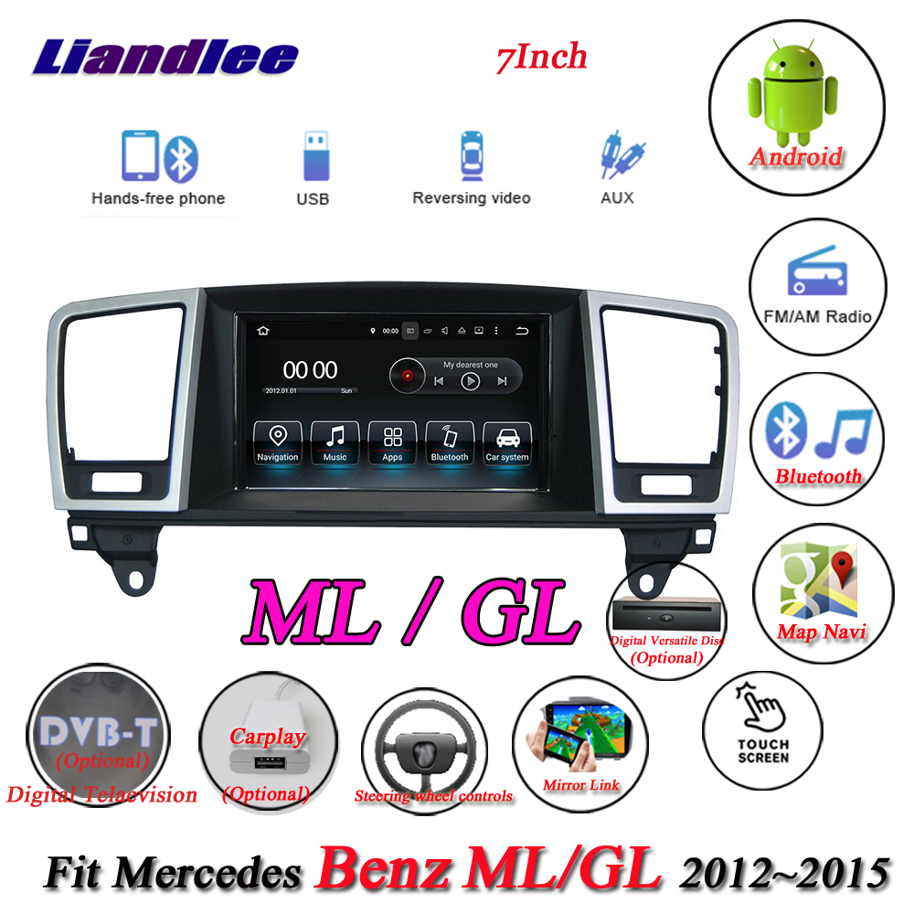 Système Android Liandlee pour Mercedes Benz MB M GLE ML W166 63 250 350 400 500 550 GPS Navi Navigation TV BT Carplay multimédia
