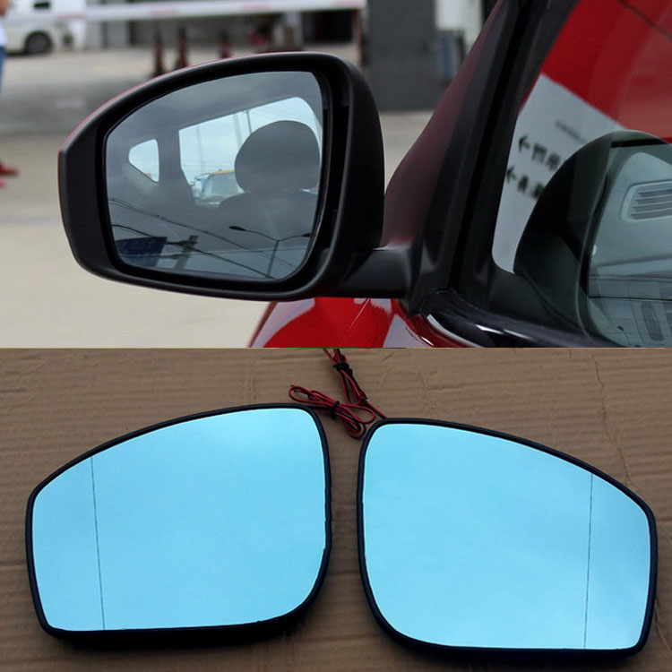 Ipoboo 2pcs New Power Heated w/Turn Signal Side View Mirror Blue Glasses For Nissan Tiida