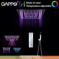 GAPPO смеситель для душа s светодиодный Водопад смеситель для ванной комнаты смеситель для душа набор настенный смеситель для душа Смесители