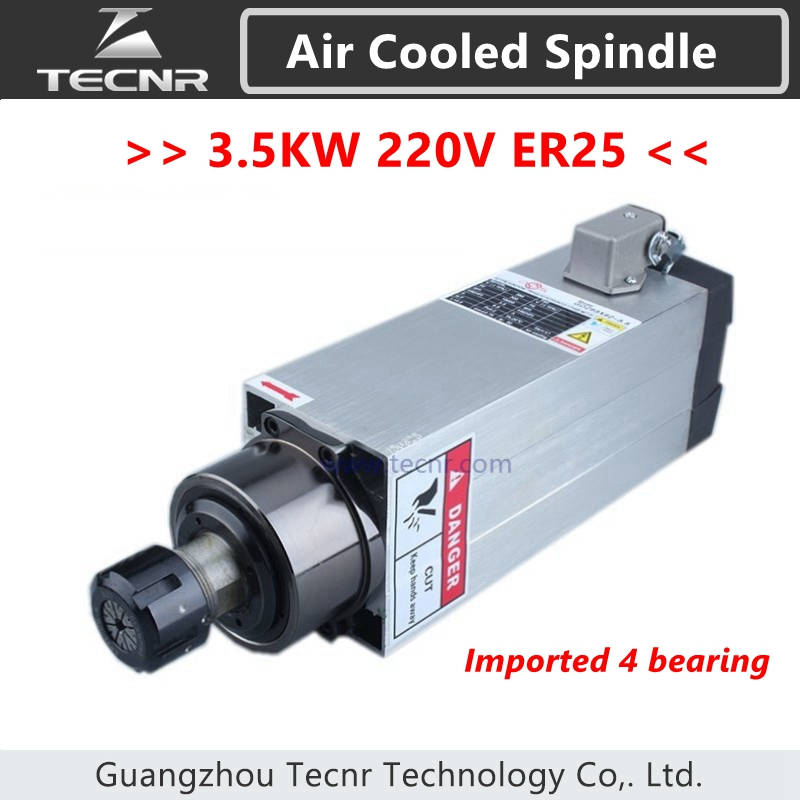 4pcs Ceramic Bearings 3.5kw 220v air cool spindle cnc milling machine spindle motor  цены
