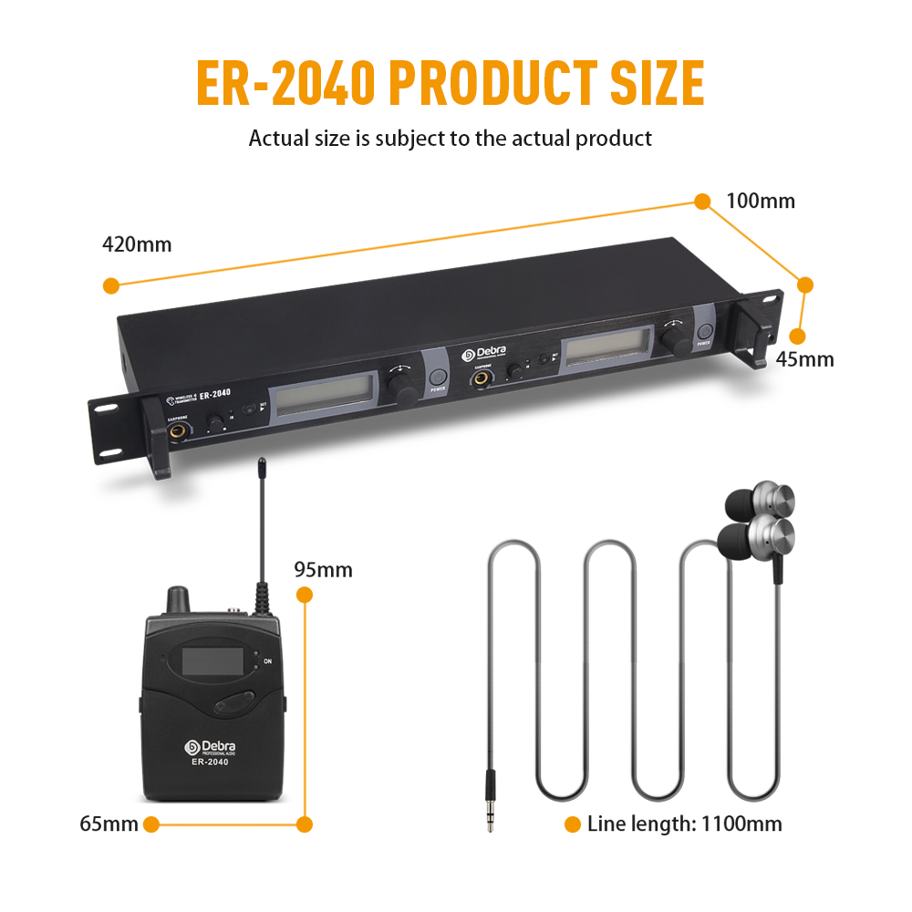 New upgrade best sound quality ER 2040 Professional UHF In Ear Monitor System for Stage performance singer in Stage Audio from Consumer Electronics