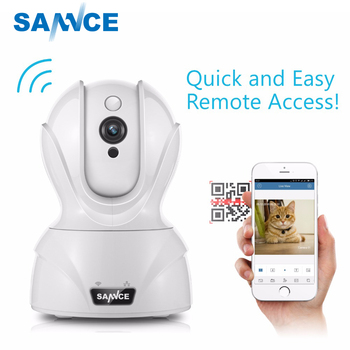 SANNCE 720P WiFi Camera Security IP Camera 1.0MP Wireless WI-FI Audio home Surveillance Baby Monitor HD Mini CCTV Camera image