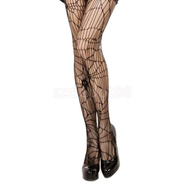 203d785830679 Gothic Rockabilly Ladies Skull Fishnet Stockings Halloween Party Costume  Hold Up Stockings Fancy Dress