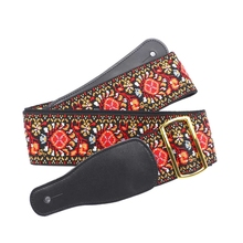 цены на Jacquard Electric Guitar Strap Acoustic Guitar Strap Folk Guitar Strap Bass Strap Anti-Skidding Iron Buckle 6Cm Width  в интернет-магазинах